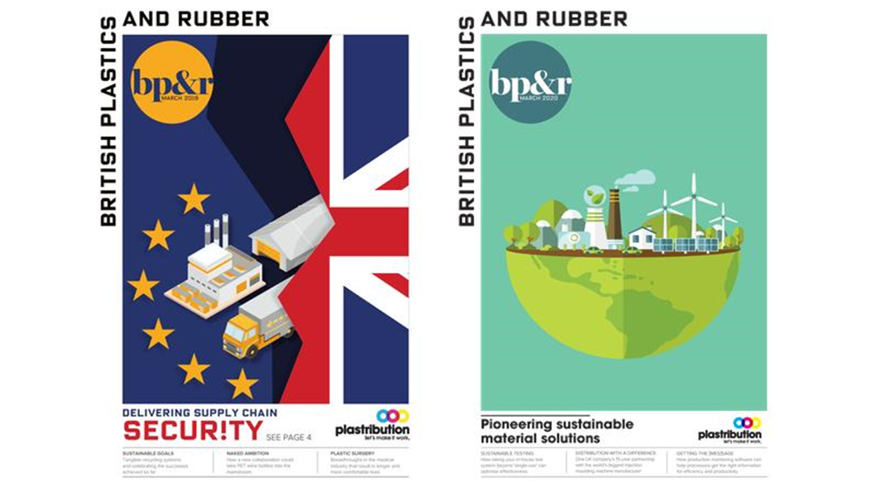 Examples in print: covers of BP&R magazine looking really strong and clear with our unique brand style