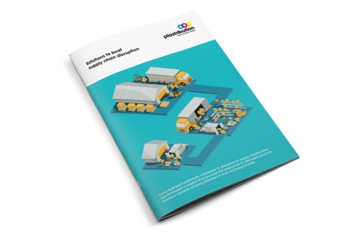 An example of an isometric graphic in a print application